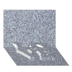 GRANITE BLUE-GREY LOVE Bottom 3D Greeting Card (7x5)
