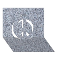 GRANITE BLUE-GREY Peace Sign 3D Greeting Card (7x5)
