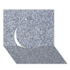 GRANITE BLUE-GREY Circle 3D Greeting Card (7x5)