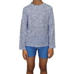 GRANITE BLUE-GREY Kid s Long Sleeve Swimwear