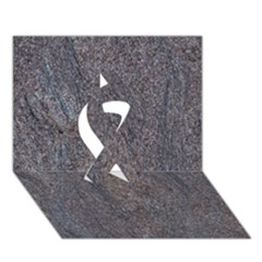 GRANITE BLUE-BROWN Ribbon 3D Greeting Card (7x5)