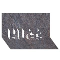 GRANITE BLUE-BROWN HUGS 3D Greeting Card (8x4)