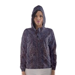 GRANITE BLUE-BROWN Hooded Wind Breaker (Women)