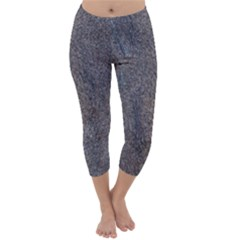 GRANITE BLUE-BROWN Capri Winter Leggings