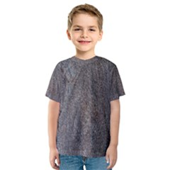 Granite Blue Brown Kid s Sport Mesh Tees