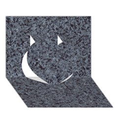 GRANITE BLUE-BLACK 3 Heart 3D Greeting Card (7x5)