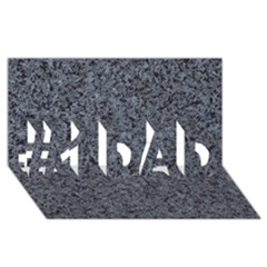 Granite Blue Black 3 #1 Dad 3d Greeting Card (8x4)