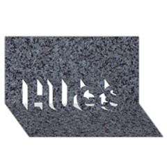 GRANITE BLUE-BLACK 3 HUGS 3D Greeting Card (8x4)