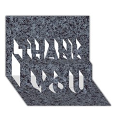 Granite Blue Black 3 Thank You 3d Greeting Card (7x5)