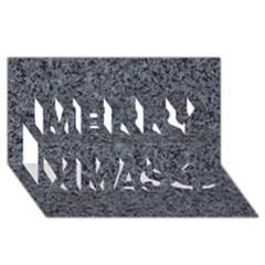 Granite Blue Black 3 Merry Xmas 3d Greeting Card (8x4)