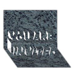 Granite Blue Black 2 You Are Invited 3d Greeting Card (7x5)