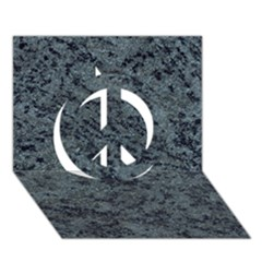GRANITE BLUE-BLACK 2 Peace Sign 3D Greeting Card (7x5)