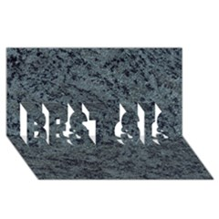 GRANITE BLUE-BLACK 2 BEST SIS 3D Greeting Card (8x4)