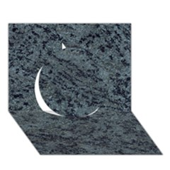 Granite Blue Black 2 Circle 3d Greeting Card (7x5)