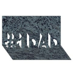 GRANITE BLUE-BLACK 2 #1 DAD 3D Greeting Card (8x4)