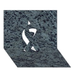 GRANITE BLUE-BLACK 2 Ribbon 3D Greeting Card (7x5)