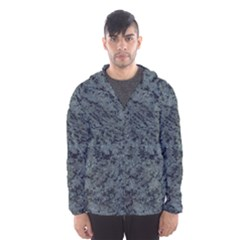 Granite Blue Black 2 Hooded Wind Breaker (men)