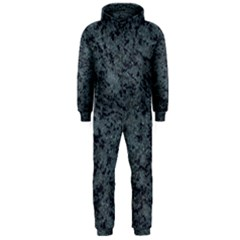 Granite Blue Black 2 Hooded Jumpsuit (men)