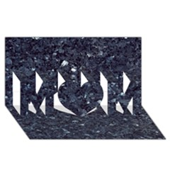 GRANITE BLUE-BLACK 1 MOM 3D Greeting Card (8x4)