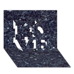 GRANITE BLUE-BLACK 1 LOVE 3D Greeting Card (7x5)