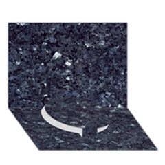 GRANITE BLUE-BLACK 1 Circle Bottom 3D Greeting Card (7x5)