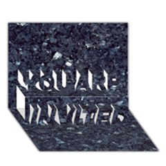GRANITE BLUE-BLACK 1 YOU ARE INVITED 3D Greeting Card (7x5)