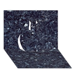 Granite Blue Black 1 Apple 3d Greeting Card (7x5)