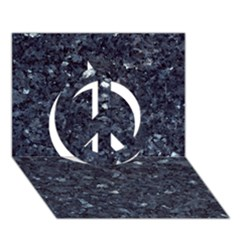 GRANITE BLUE-BLACK 1 Peace Sign 3D Greeting Card (7x5)