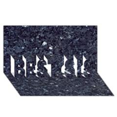 Granite Blue Black 1 Best Sis 3d Greeting Card (8x4)