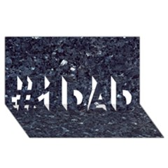 Granite Blue Black 1 #1 Dad 3d Greeting Card (8x4)