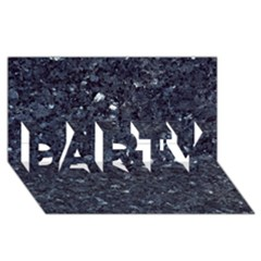 GRANITE BLUE-BLACK 1 PARTY 3D Greeting Card (8x4)