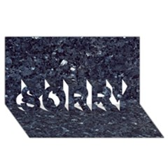 GRANITE BLUE-BLACK 1 SORRY 3D Greeting Card (8x4)
