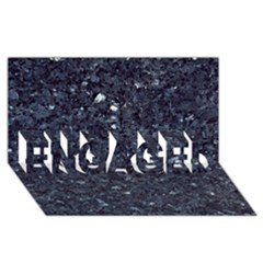 GRANITE BLUE-BLACK 1 ENGAGED 3D Greeting Card (8x4)