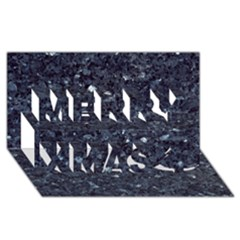 GRANITE BLUE-BLACK 1 Merry Xmas 3D Greeting Card (8x4)