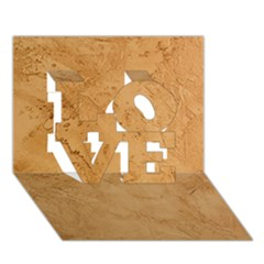 FAUX STONE LOVE 3D Greeting Card (7x5)