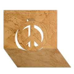 Faux Stone Peace Sign 3d Greeting Card (7x5)