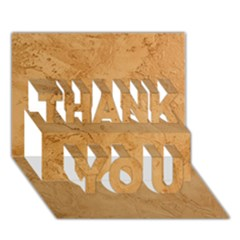 Faux Stone Thank You 3d Greeting Card (7x5)