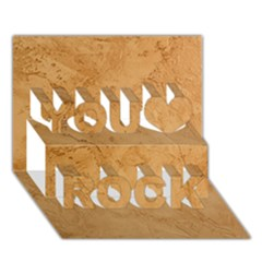FAUX STONE You Rock 3D Greeting Card (7x5)