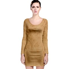 FAUX STONE Long Sleeve Bodycon Dresses