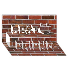 Colorful Brick Wall Best Friends 3d Greeting Card (8x4)