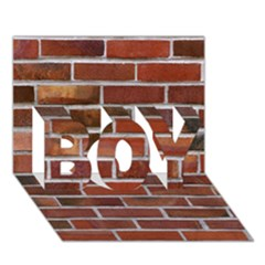 Colorful Brick Wall Boy 3d Greeting Card (7x5)