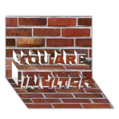 COLORFUL BRICK WALL YOU ARE INVITED 3D Greeting Card (7x5)