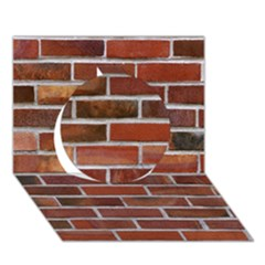 COLORFUL BRICK WALL Circle 3D Greeting Card (7x5)