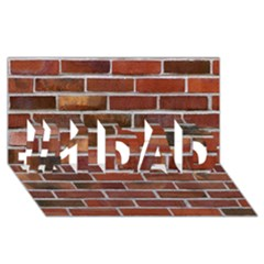 COLORFUL BRICK WALL #1 DAD 3D Greeting Card (8x4)