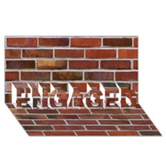 Colorful Brick Wall Engaged 3d Greeting Card (8x4)