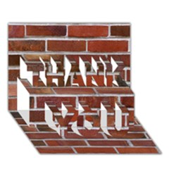 COLORFUL BRICK WALL THANK YOU 3D Greeting Card (7x5)