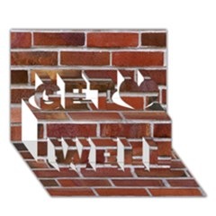 COLORFUL BRICK WALL Get Well 3D Greeting Card (7x5)