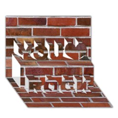 COLORFUL BRICK WALL You Rock 3D Greeting Card (7x5)