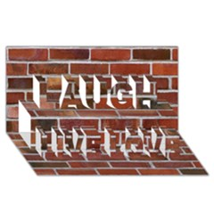 Colorful Brick Wall Laugh Live Love 3d Greeting Card (8x4)