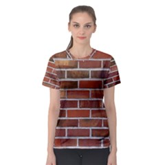 COLORFUL BRICK WALL Women s Sport Mesh Tees